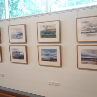 Installation of 'Baer' watercolours